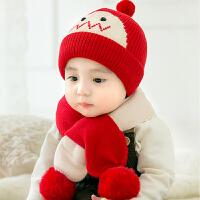婴儿帽子秋冬季婴幼儿宝宝儿童保暖毛线帽男童女童冬天款可爱