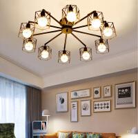 北欧居家led客厅吸顶灯 卧室灯具 美式简约田园餐厅创意铁艺灯饰