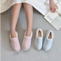 冬季棉鞋女男士情侣加厚室内外防水厚底日式棉拖鞋家居月子鞋