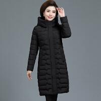 妈妈冬装棉衣中长款2018新款洋气中年人女羽绒时尚外套40岁50