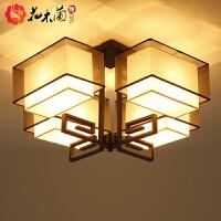 客厅吸顶水晶灯 新中式吸顶灯中国风现代灯具led仿古简约灯饰禅意卧室餐厅客厅灯