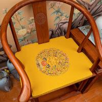 新中式家具红木椅子坐垫圈椅太师椅茶椅椅垫棉麻沙发坐垫沙发垫套