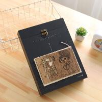复古木盒锁扣同学录 创意唯美活页同桌毕业纪念册 留言本通讯录