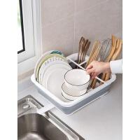 折叠碗碟架餐具收纳盒沥水架碗筷收纳箱厨房水槽碗架置物架