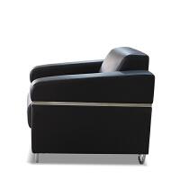 【旗舰精品】商务办公沙发茶几组合会客区沙发洽谈4店沙发客户休息室办公沙发 1+1+3组合(黑色)
