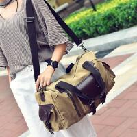 斜跨包包韩版男士包男包单肩包男斜挎包男士书包长途旅行包袋帆布大容量包