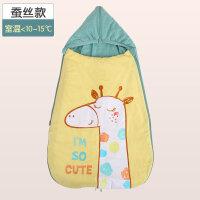 防惊跳睡袋新生儿抱被春秋纯棉婴儿用品夏季薄款秋冬加厚宝宝包被定制
