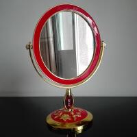 婚嫁用品婚庆用品 结婚嫁妆红色镜子 结婚 新娘台式双面化妆镜新人用