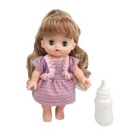 仿真洋娃娃婴儿搪胶宝宝唱歌眨眼换装娃娃带推车过家家女孩童玩具 26厘米