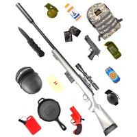 m24抢玩具枪可发射水晶弹抢绝地手动吃鸡求生水珠弹枪下供弹模型套装水晶弹 +吃鸡13件套