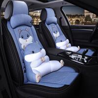 汽车坐垫亚麻四季通用朗逸速腾POLO宝来女生夏季全包围座垫套