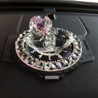 【品牌特惠】车内饰品摆件汽车装饰创意可爱水晶玫瑰花水晶车内车载摆件女