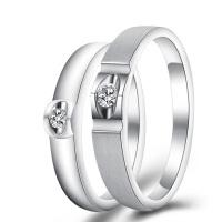 梦克拉 钻石戒指情侣钻石对戒 Pt950铂金对戒18k金对戒 醉爱 求婚结婚钻戒
