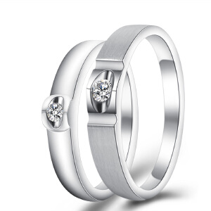 梦克拉 18K金戒指 醉爱 钻石对戒 求婚戒女戒 可礼品卡购买