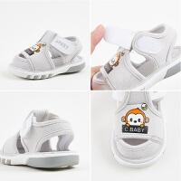 0-2岁婴儿叫叫鞋软底鞋女童学步鞋1-3岁男宝宝夏季布凉鞋