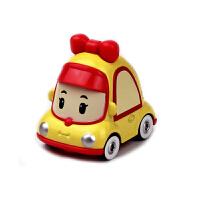 珀利poli安巴克里货柜车变形警车警长合金车模型玩具罗伊消车 桔色 米妮Q车