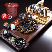 茶具套装家用客厅黑檀实木茶盘功夫茶杯办公会客全自动烧水茶台