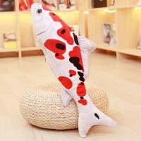 金鱼抱枕仿真3d鲤鱼抱枕可爱毛绒玩具猫猫玩具公仔恶搞玩偶布娃娃