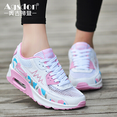 奥古狮登夏季气垫鞋学生韩版鞋子运动风休闲鞋跑步透气单鞋