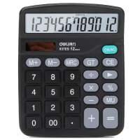 得力计算器837经济型太阳能双电源计算机财务用大按键办公
