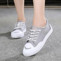 帆布鞋女学生韩版春秋低帮牛仔布鞋平底休闲球鞋可爱少女板鞋