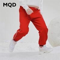 MQD童装女童针织裤2019秋装新款儿童洋气运动条纹韩版休闲束脚裤