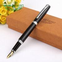 英雄HERO盒装黑色铱金钢笔/墨水笔-382