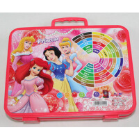 好吉森鹤迪士尼文具礼盒公主/米奇36色带印章水彩笔1盒36支装粉色或蓝色包装+送品681