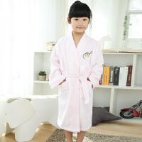 纯棉毛巾料儿童浴袍春秋冬季款加厚 游泳洗澡可爱卡通浴衣
