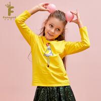 [2件5折到手价:44.5]法纳贝儿18秋冬女童卡通套头衫印花长袖打底T恤EH3T03