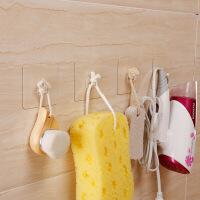 【好货】4个装粘钩无痕挂钩厨房门后挂钩墙壁粘贴浴室衣帽挂钩免钉钩子 4个装 图片色
