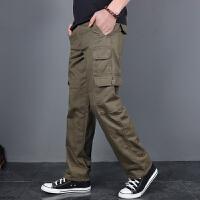 休闲裤男宽松直筒多口袋工装裤男长裤战术裤潮