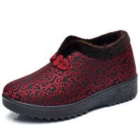 冬季老北京布鞋女鞋妈妈鞋中老年棉鞋软底老人加绒保暖奶奶鞋