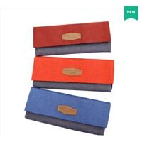 新品得力66717彩色涤纶多功能笔袋学生文具多层收纳袋分类笔袋