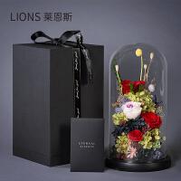 永生花玻璃罩生日礼品玫瑰花情人节礼品送女朋友老师教师节礼物