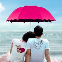 遇水开花雨伞 男女士学生折叠晴雨伞 创意变色三折伞