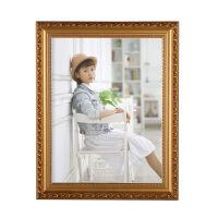 【好货】欧式实木相框10寸12 16 18 20 24 A3 A4婚纱照片儿童摆台挂墙