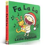 顺丰发货 Fa La La 幼儿启蒙认知英文原版纸板书绘本 Leslie Patricelli 亲子读物