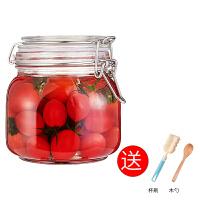 密封罐玻璃瓶子带盖蜂蜜食品腌泡柠檬酵素百香果杂粮储物储存罐子