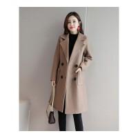 毛呢大衣女中长款韩版修身秋冬新品大码女装呢子外套