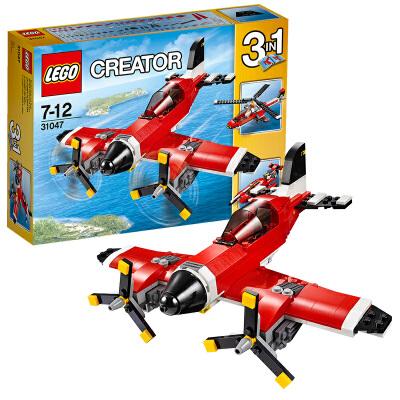 [当当自营]LEGO 乐高 创意百变系列 螺旋桨飞机 积木拼插儿童益智玩具 31047【当当自营】2016年新品!适合7-12岁,230pcs小颗粒积木