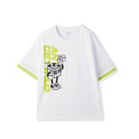 【到手价83】【商场同款】安踏童装男童儿童纯棉卡通短袖T恤夏季新款352128111
