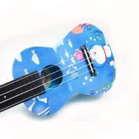 支持货到付款-vorson  彩印 23寸 尤克里里 ukulele 乌克丽丽 小四弦 夏威夷 小吉他 蓝色 系列 卡通 动漫 AUP-24-34