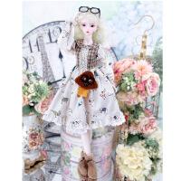 【2件5折】芭比娃娃 新年礼物 精品 德必胜娃娃 十二生肖系列60cm改装娃娃仿真玩具公主bjd换装洋娃娃 狗-小白