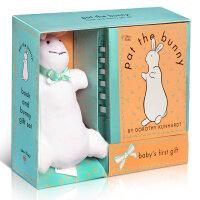 顺丰包邮 Pat the Bunny Book & Plush(书 玩偶) 轻拍小兔子系列丛书和长毛绒玩具 Touch