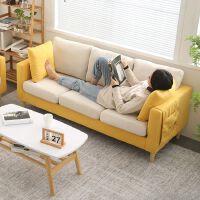 简约现代布艺沙发小户型客厅网红款双人三人北欧简易出租房服装店