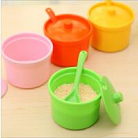创意家居厨房调料盒带盖带勺子调味罐 密胺厨房调味瓶