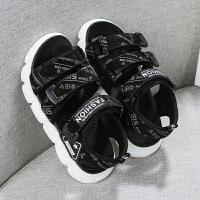 2019夏季新款男童凉鞋小孩软底沙滩鞋儿童韩版中大童男孩童鞋