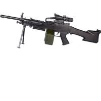 宜佳达 大菠萝玩具枪M249*下供弹电动连发大菠萝迷你版重机枪水晶蛋吃鸡玩具 送3万弹+靶子