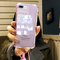 �O果6s�饽曳浪な�C��iPhone6透明硅�z套女款��と�包ip6